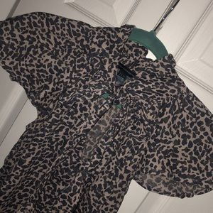 French Connection high neck tie blouse - Size 2